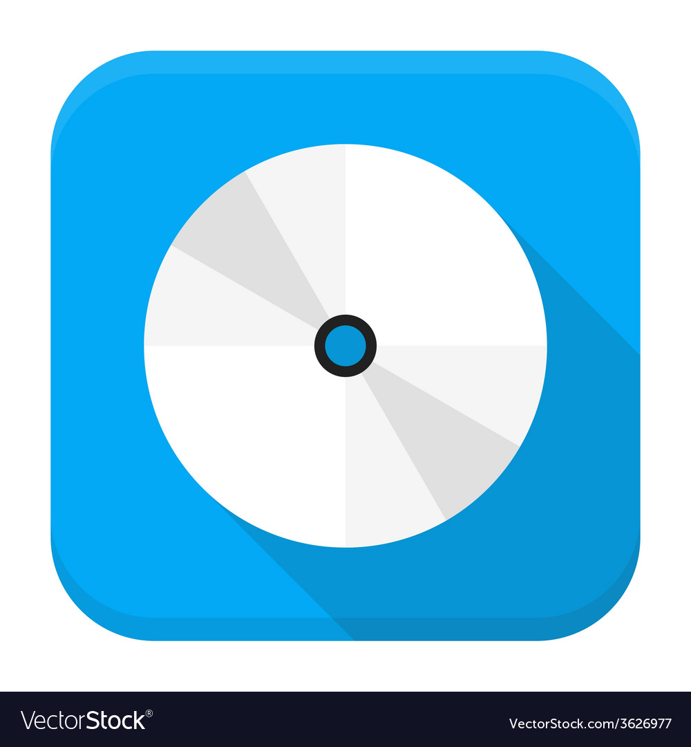 Cd dvd flat app icon with long shadow vector | Price: 1 Credit (USD $1)
