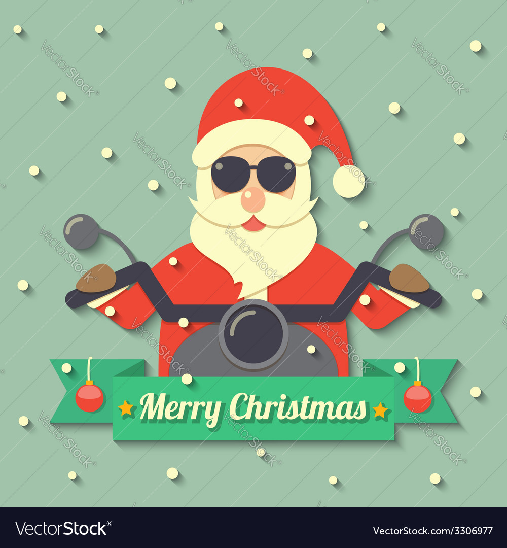 Christmas santa claus background vector | Price: 1 Credit (USD $1)
