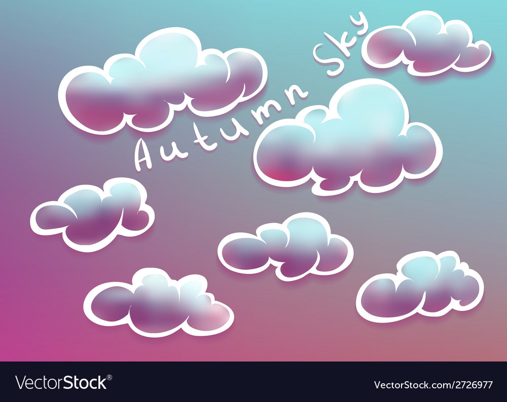 Clouds on autumn sky vector | Price: 1 Credit (USD $1)
