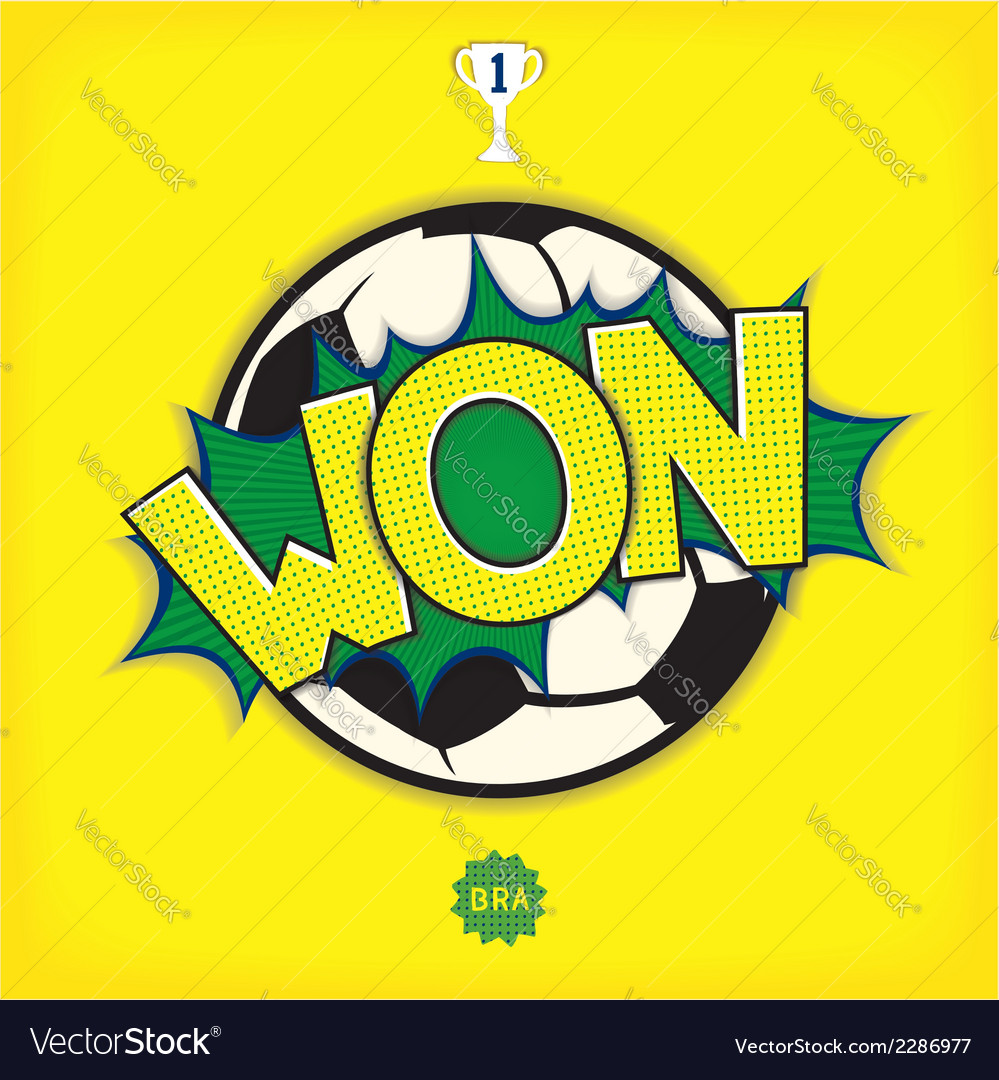 Comic art - won in football vector | Price: 1 Credit (USD $1)