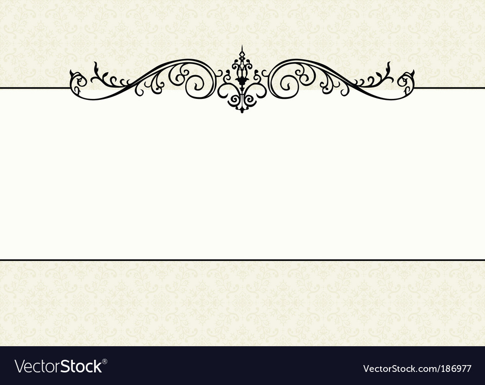 Floral pattern and ornament frame vector | Price: 1 Credit (USD $1)