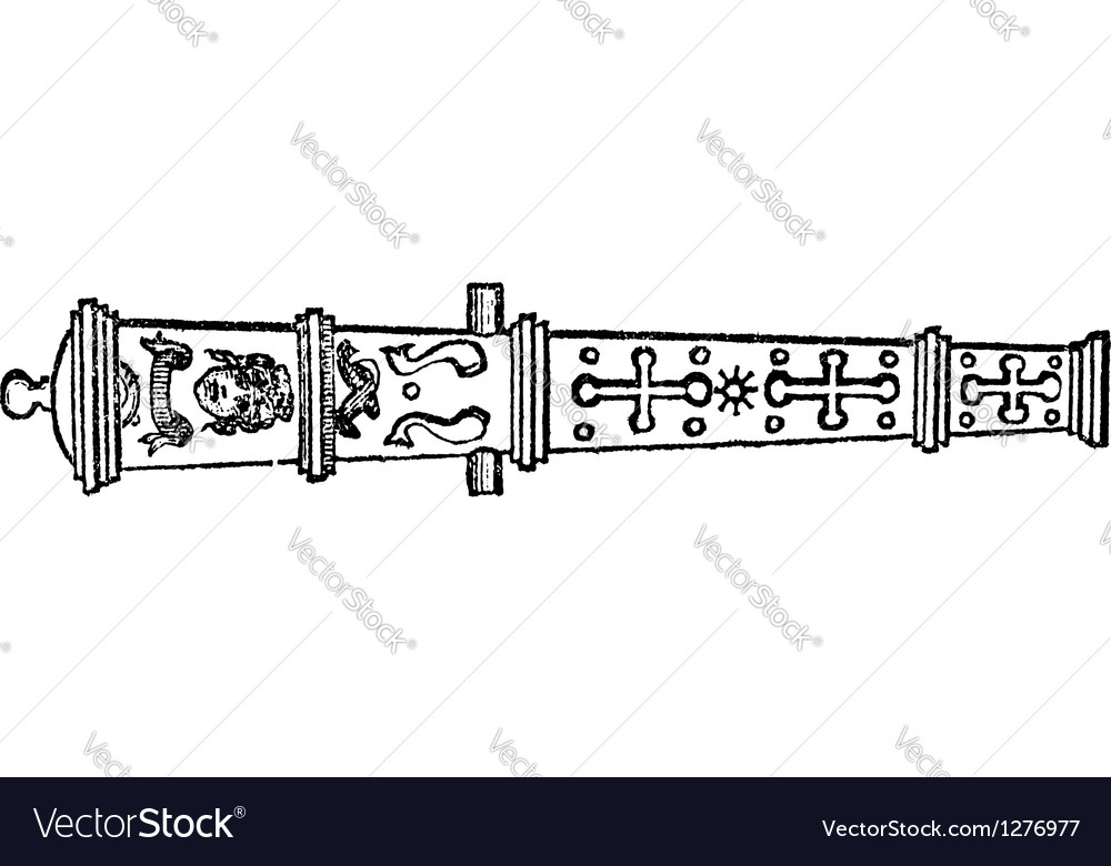 Medieval cannon vintage engraving vector | Price: 1 Credit (USD $1)