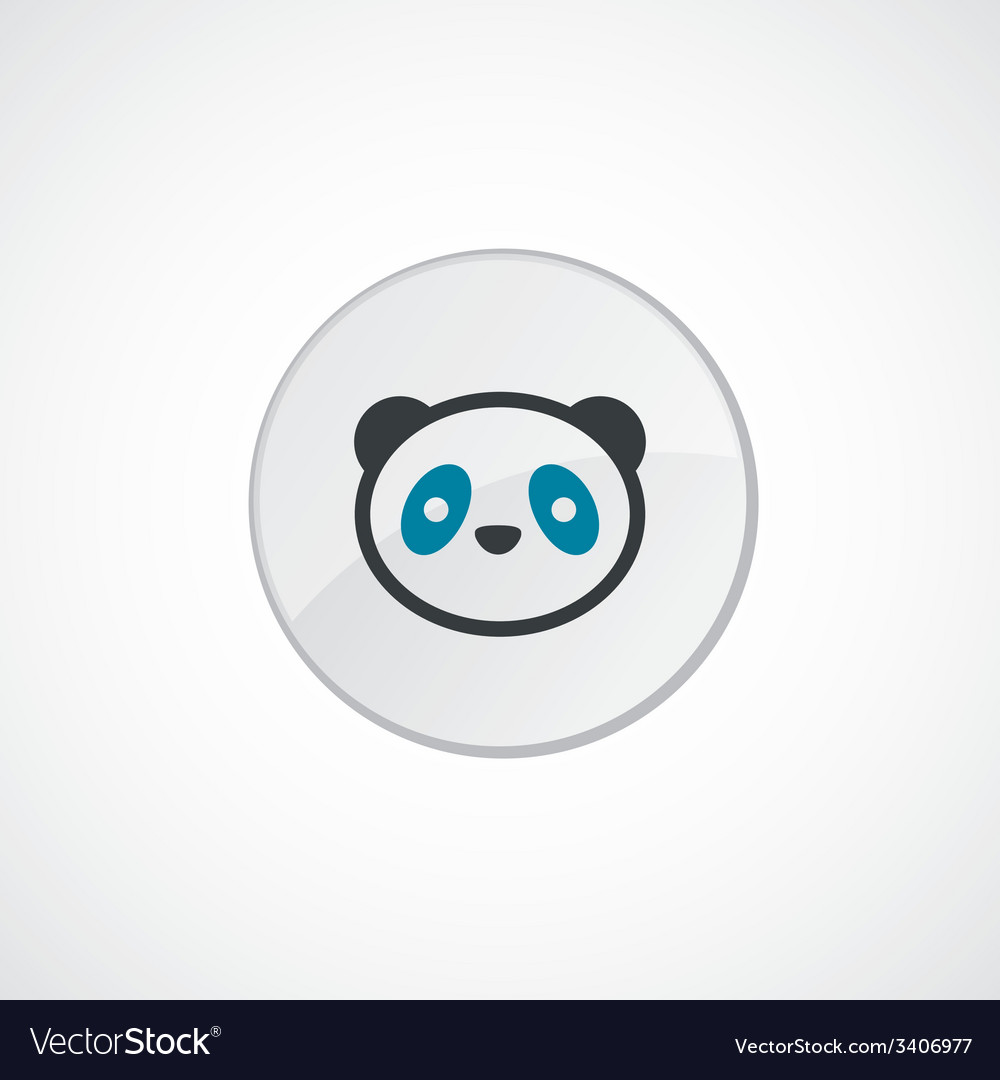Panda icon 2 colored vector | Price: 1 Credit (USD $1)