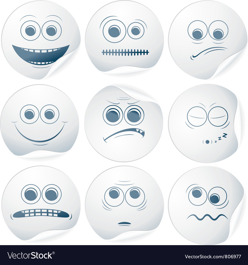 Paper smileys vector | Price: 1 Credit (USD $1)