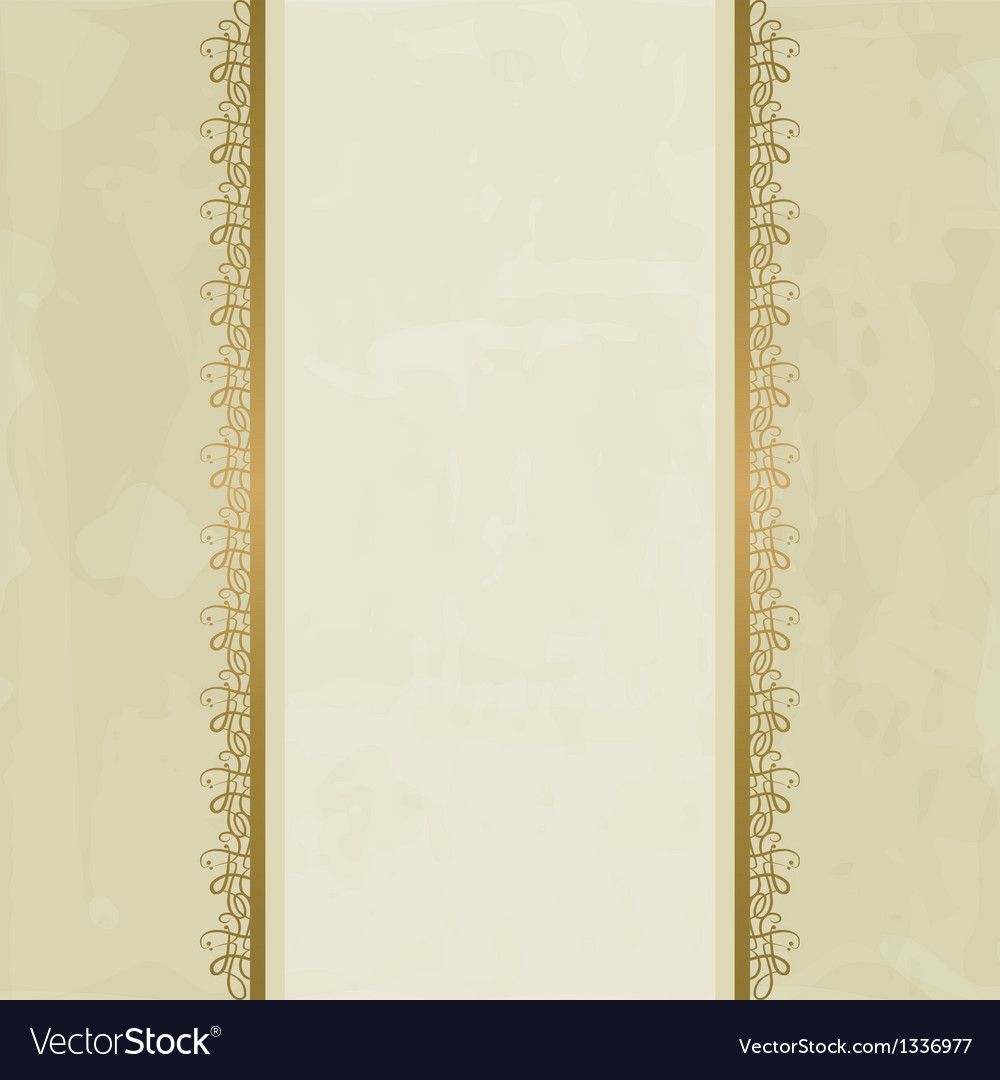 Pastel background with golden borders vector | Price: 1 Credit (USD $1)