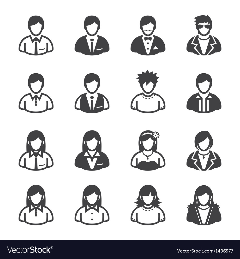 People icons and user icons vector | Price: 1 Credit (USD $1)