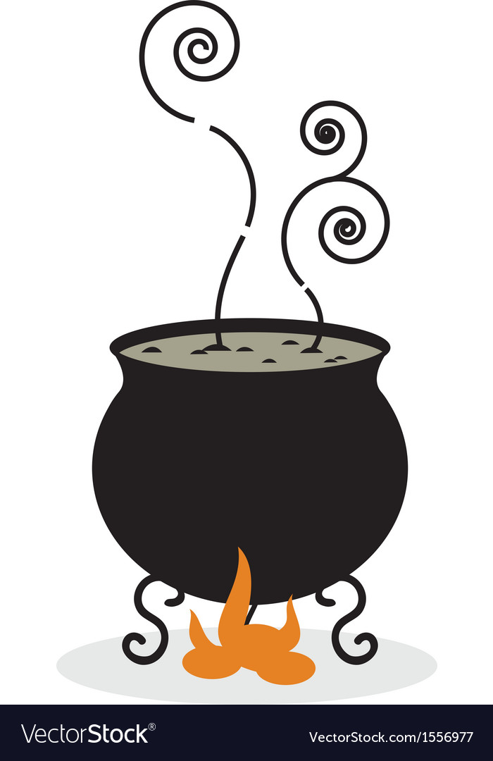 Silhouette of cauldron and fire vector | Price: 1 Credit (USD $1)