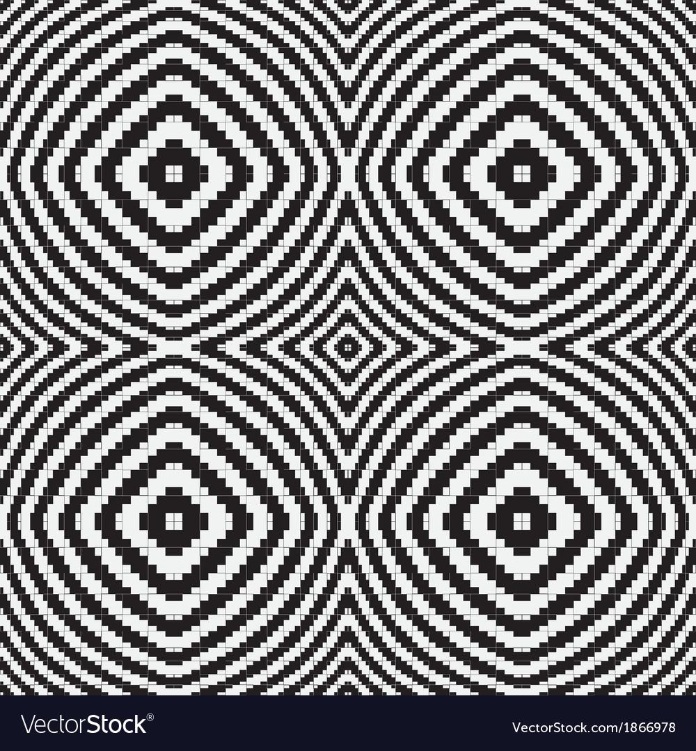 Black white optical geometric seamless pattern vector | Price: 1 Credit (USD $1)