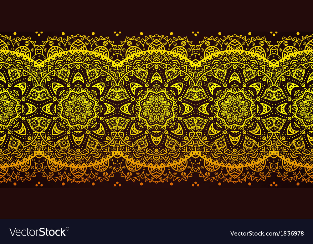 Decorative golden lace stripe pattern on black vector | Price: 1 Credit (USD $1)