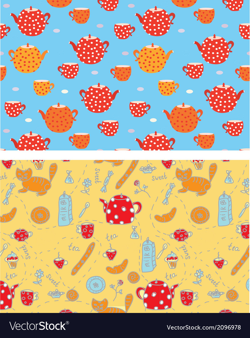 Funny tea banners with sweets cats vector   Price: 1 Credit (USD $1)