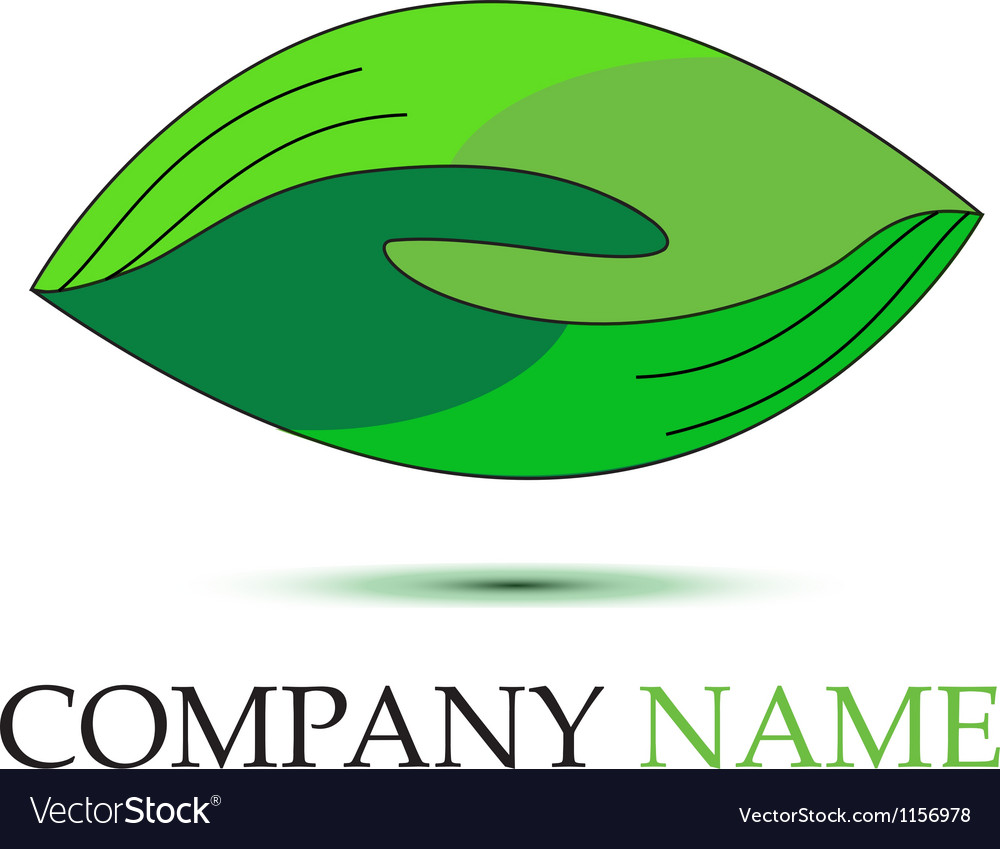 Green handshaking logo vector | Price: 1 Credit (USD $1)