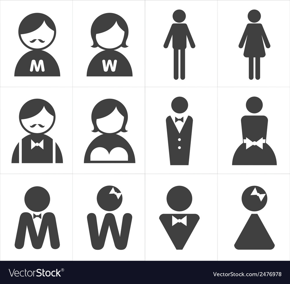 Icon toilet man and woman vector | Price: 1 Credit (USD $1)