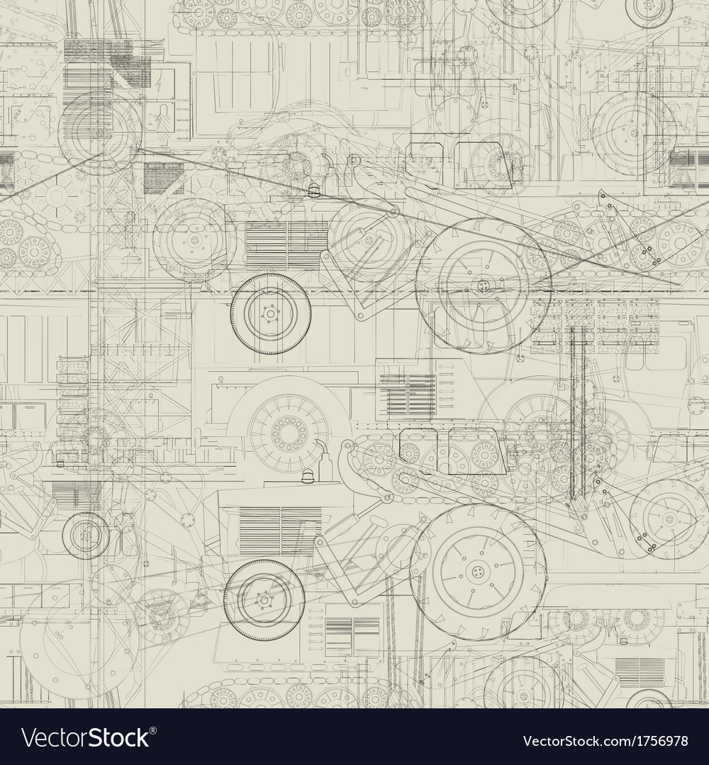 Industrial vehicles pattern vector | Price: 1 Credit (USD $1)