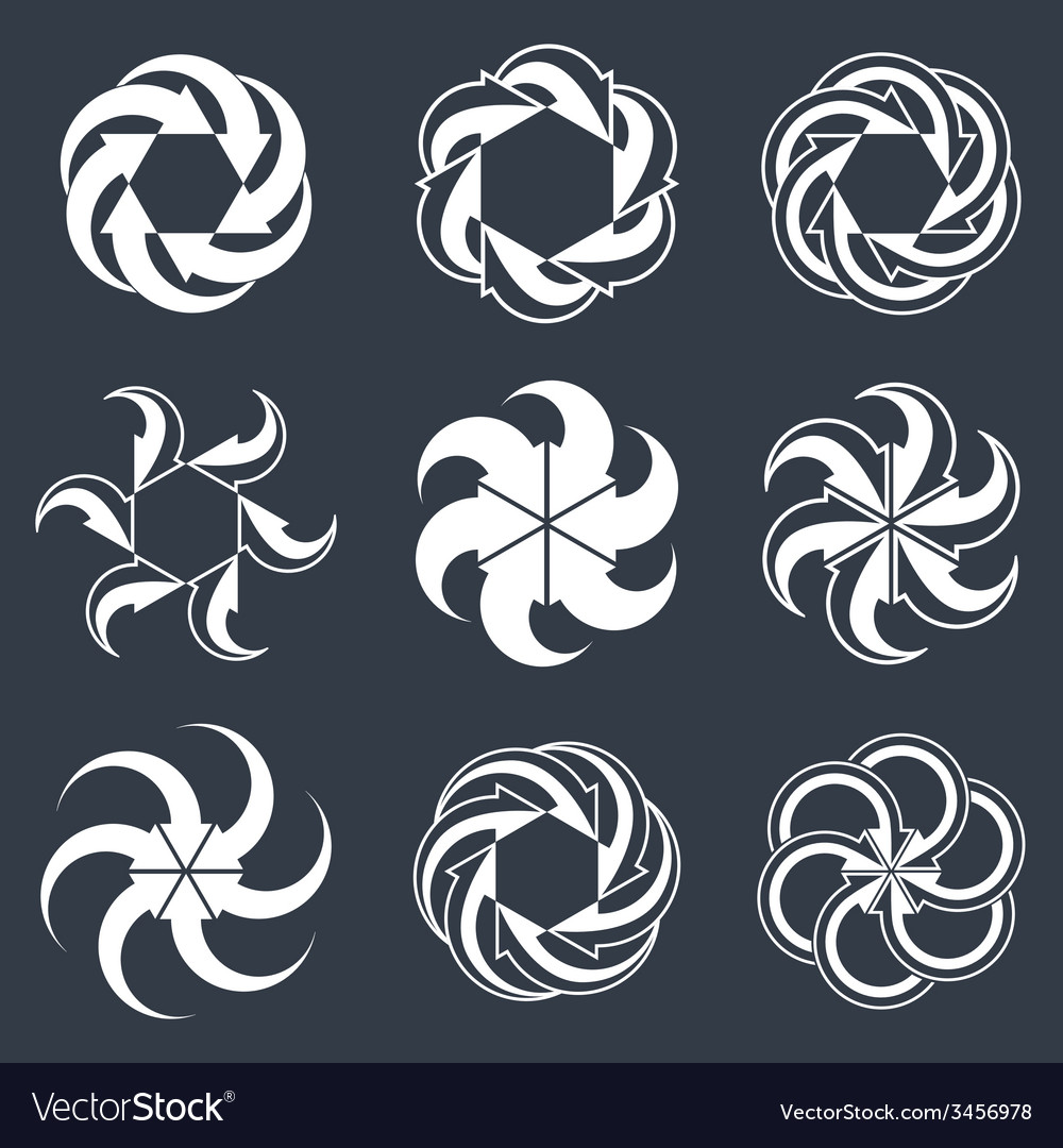 Infinite loop arrows abstract symbol single color vector | Price: 1 Credit (USD $1)
