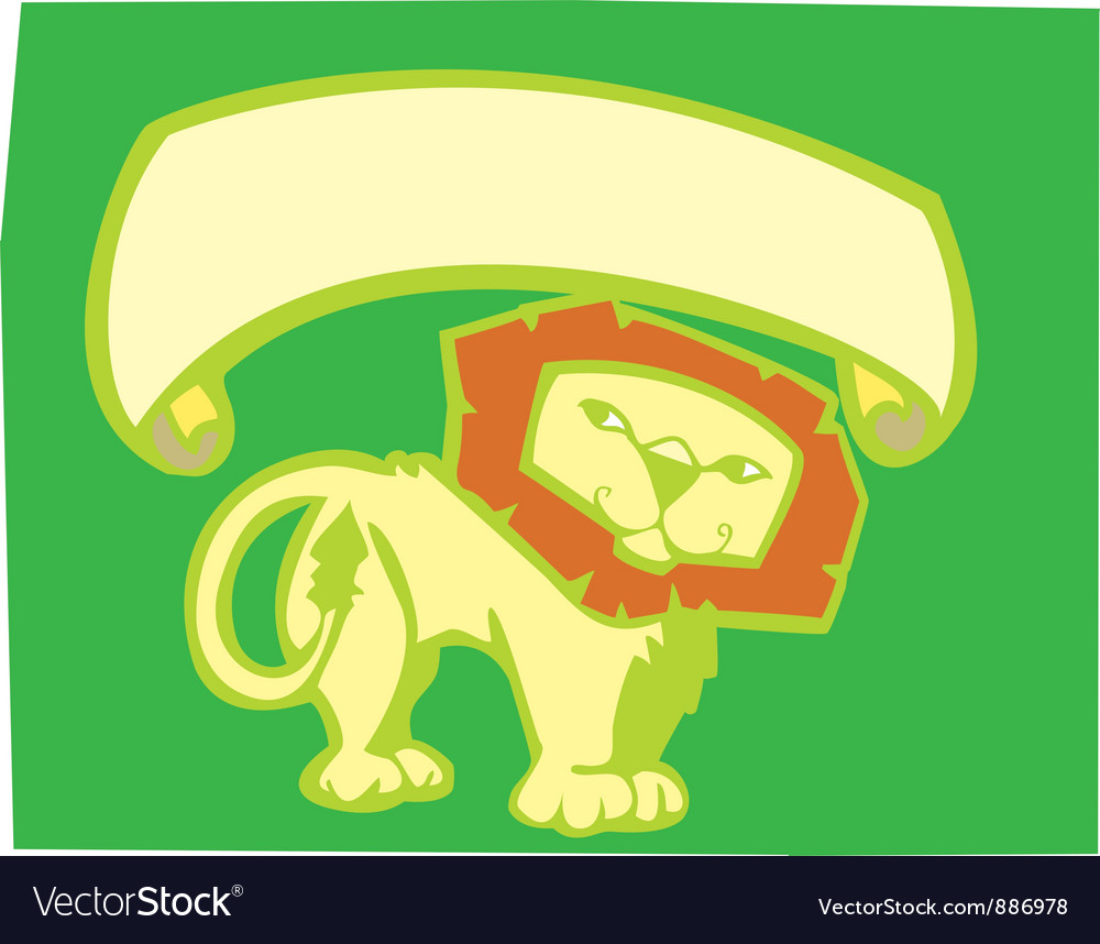 Lion banner vector | Price: 1 Credit (USD $1)