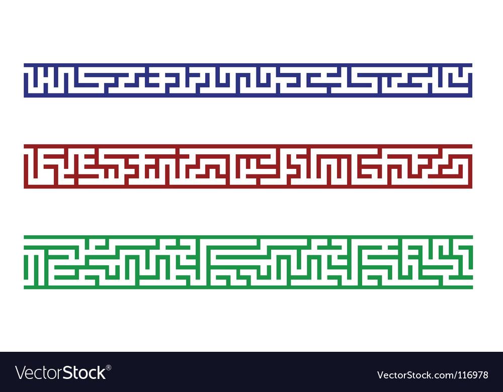 Maze border vector | Price: 1 Credit (USD $1)