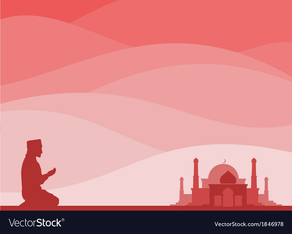 Muslim praying vector | Price: 1 Credit (USD $1)