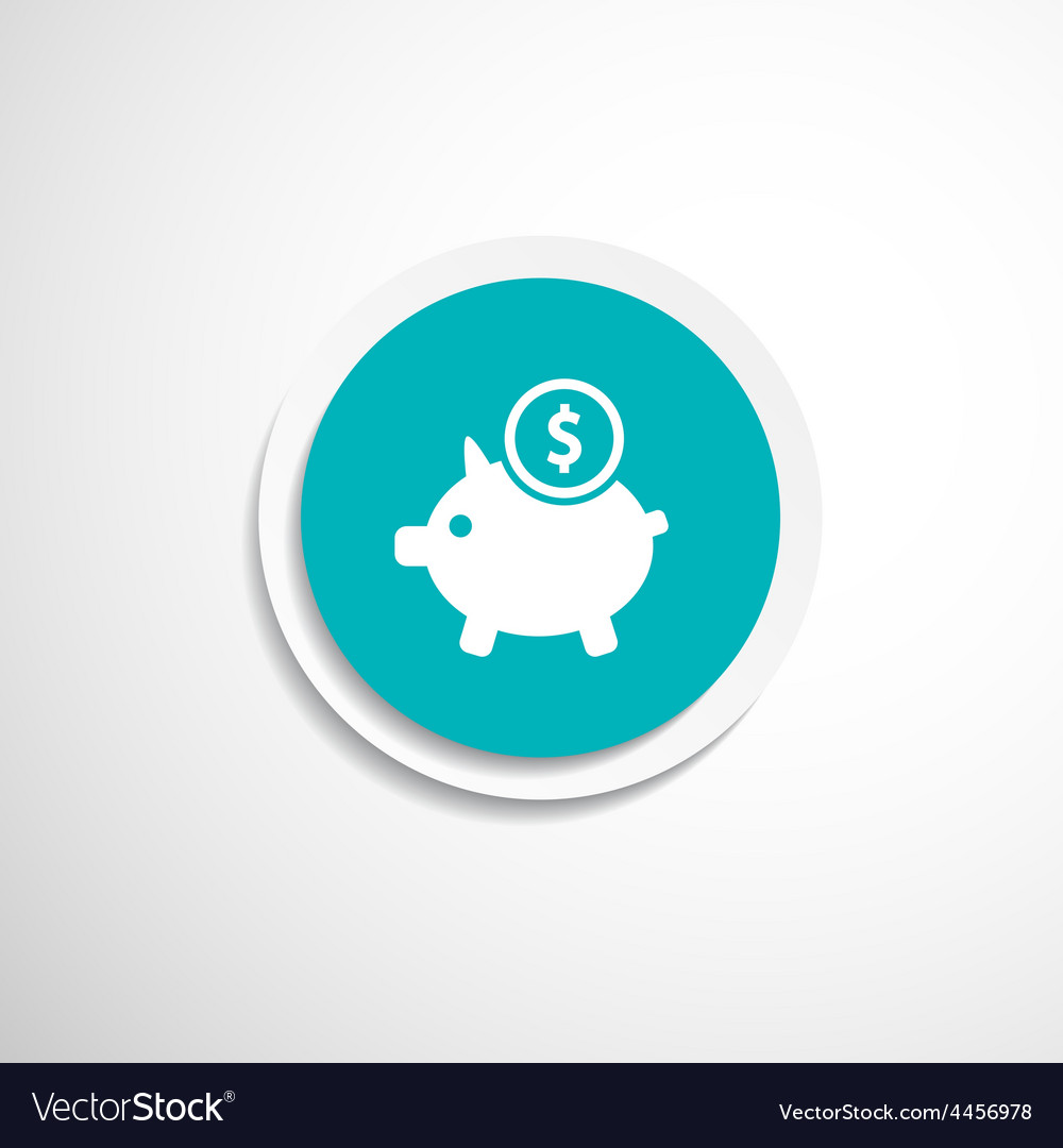 Piggy icon bank economy coin money piggy savings vector | Price: 1 Credit (USD $1)