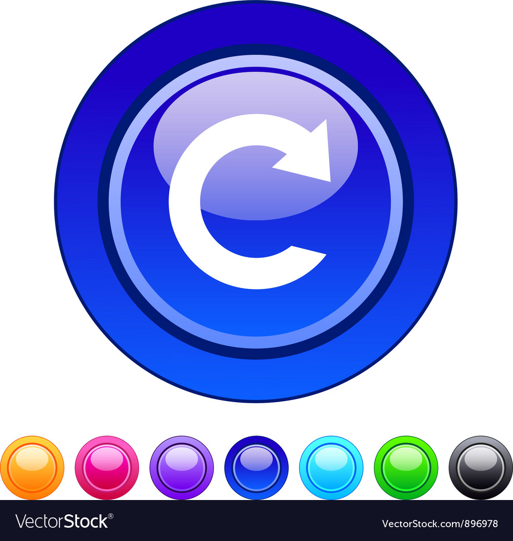Reload circle button vector | Price: 1 Credit (USD $1)