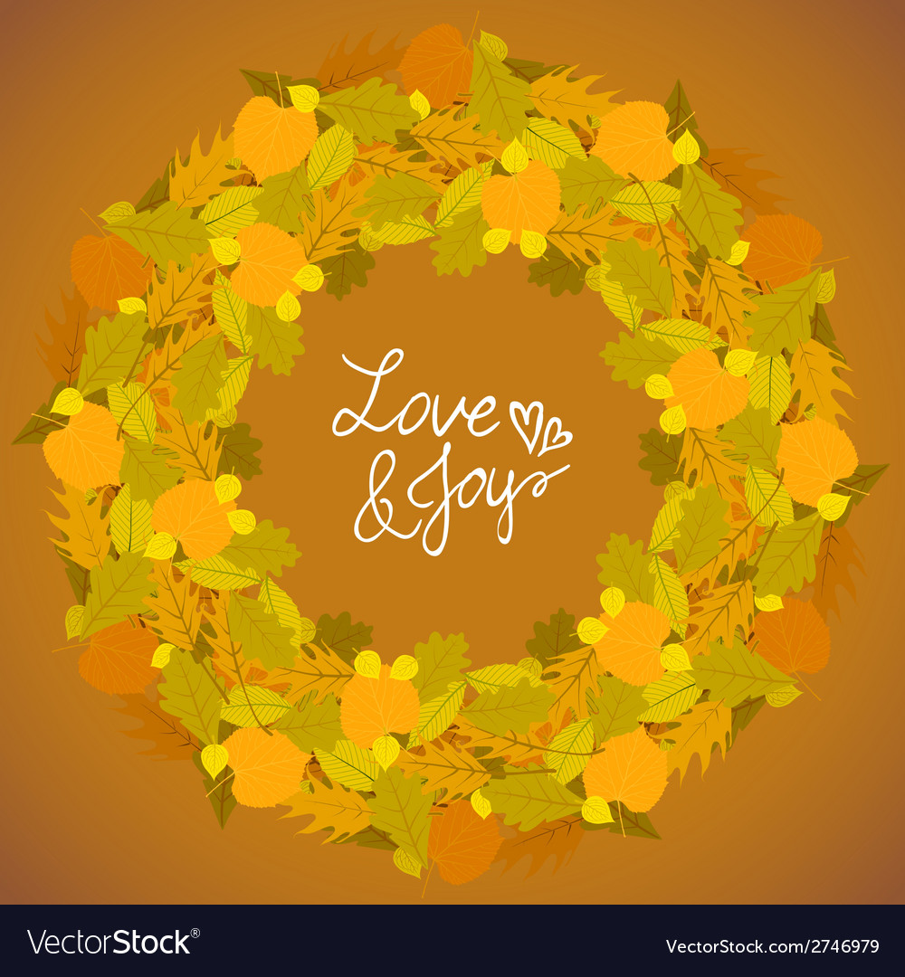 Background with autumn decor vector | Price: 1 Credit (USD $1)