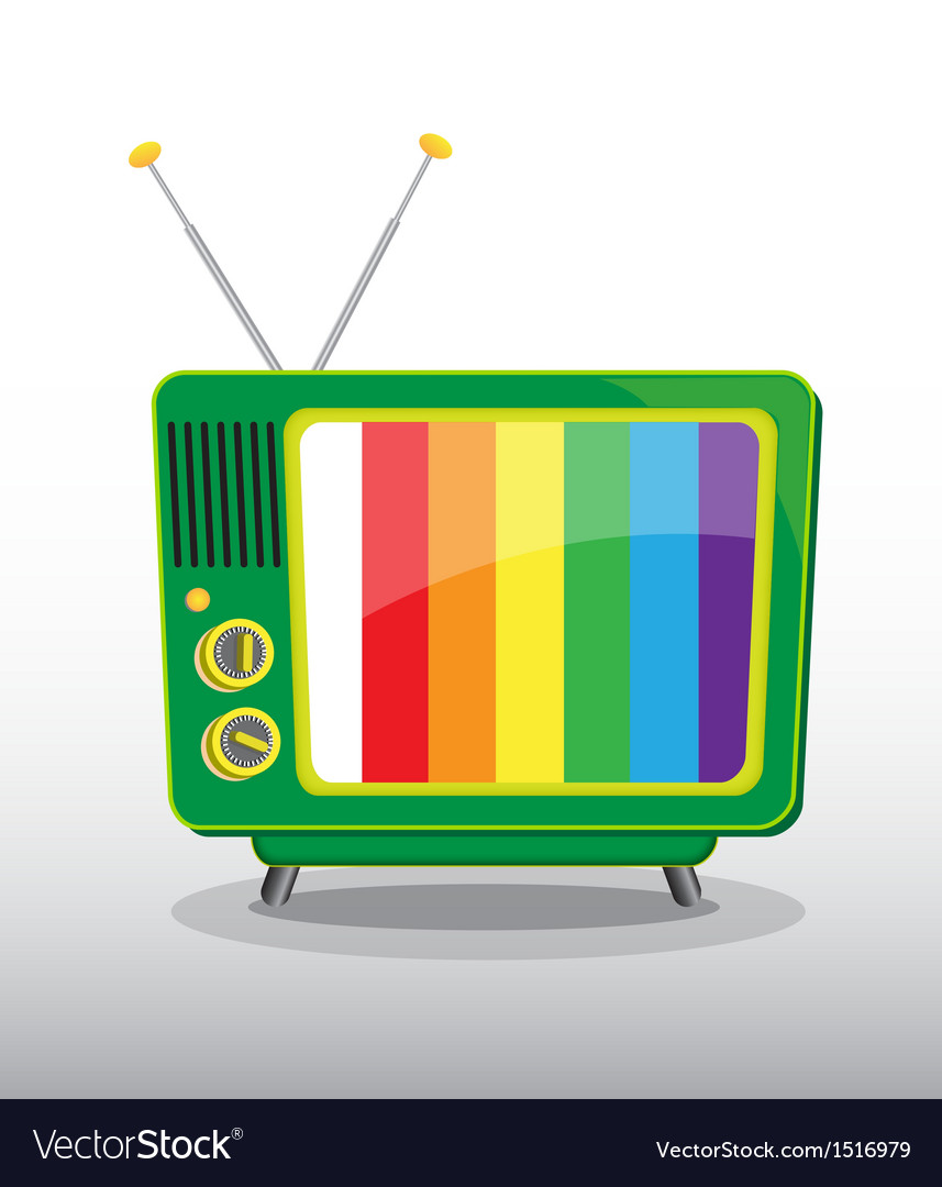 Colorful retro television vector | Price: 1 Credit (USD $1)