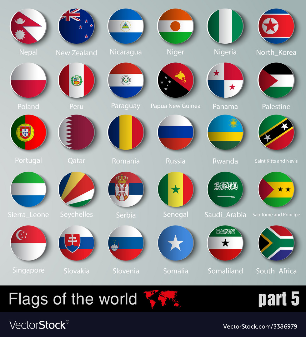 Flags of all countries vector | Price: 1 Credit (USD $1)