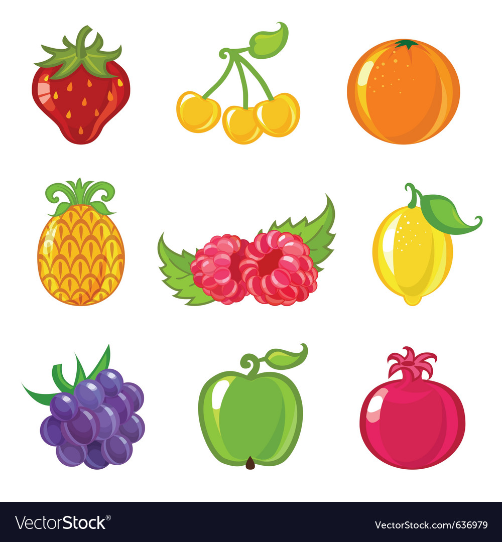 Fruit icons vector | Price: 1 Credit (USD $1)