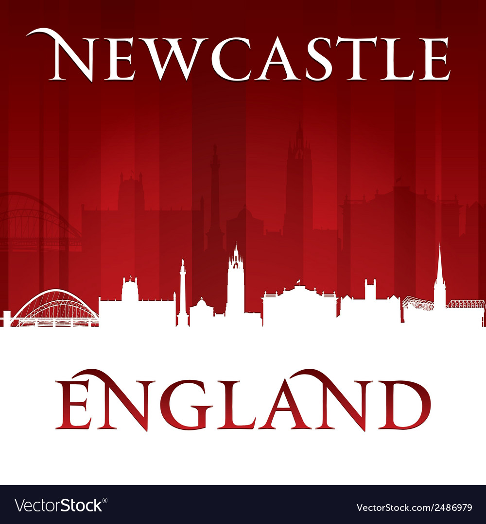 Newcastle england city skyline silhouette vector | Price: 1 Credit (USD $1)