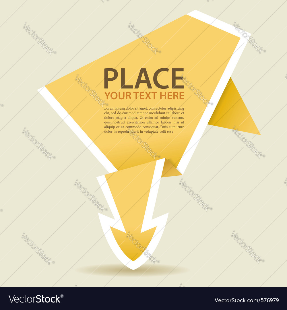 Paper origami arrow vector | Price: 1 Credit (USD $1)