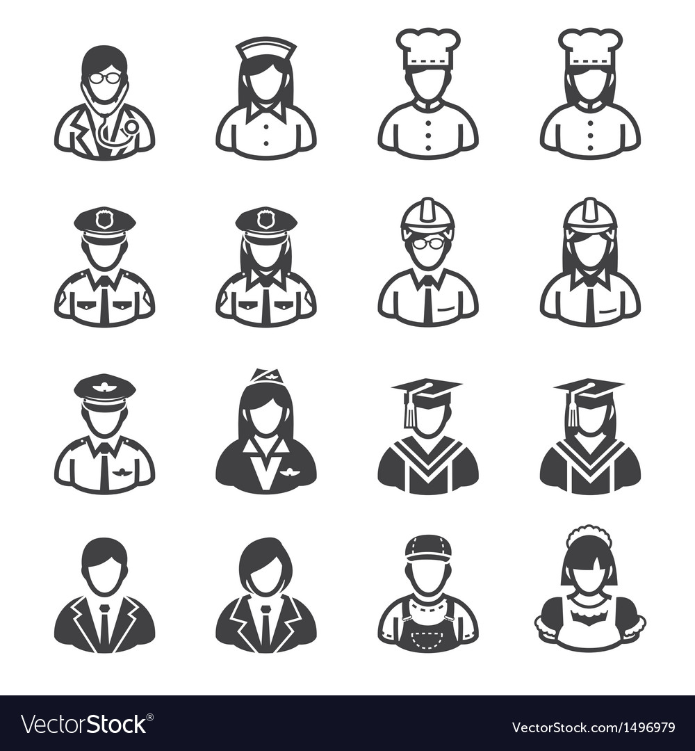 People icons occupation icons vector | Price: 1 Credit (USD $1)