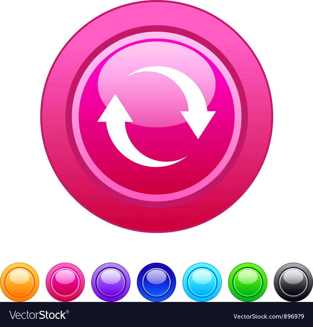 Refresh circle button vector | Price: 1 Credit (USD $1)