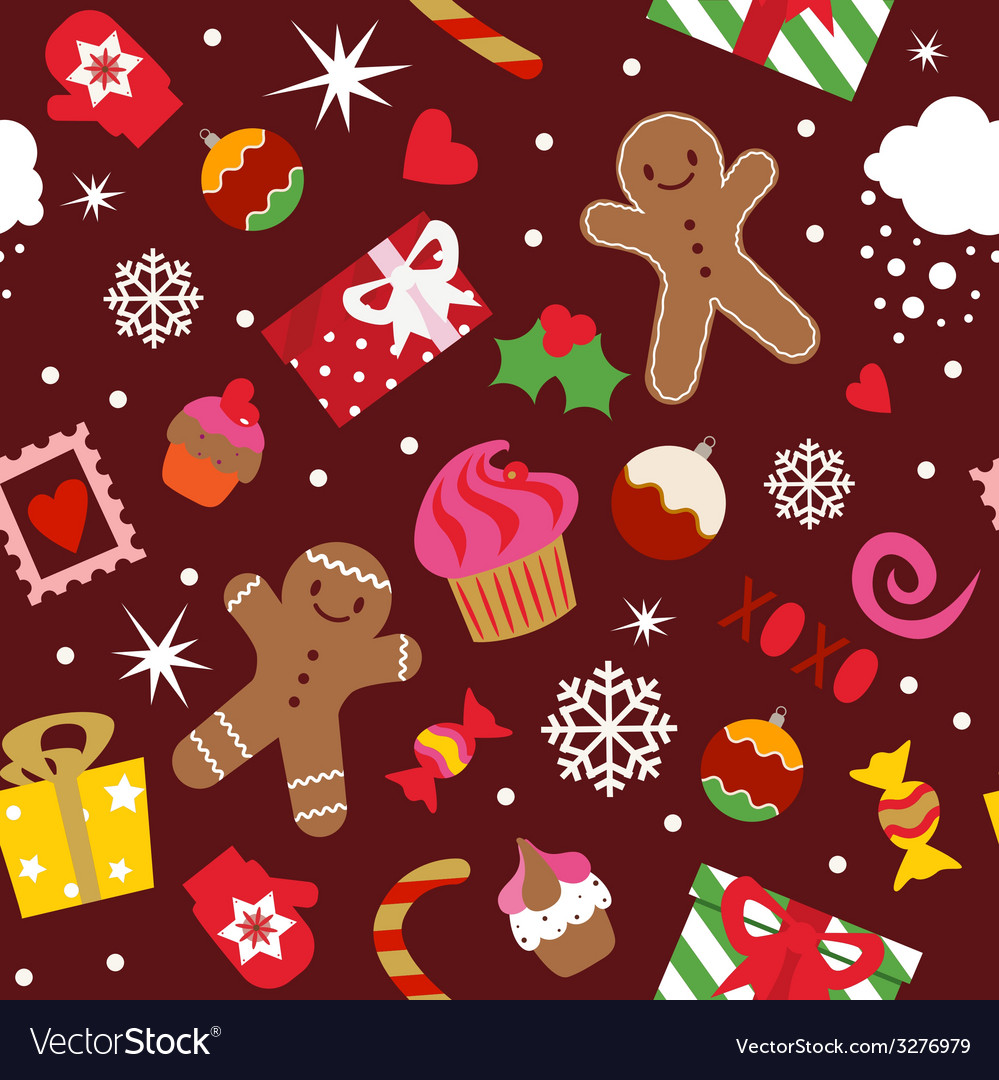 Seamless pattern christmas holidays elements vector   Price: 1 Credit (USD $1)