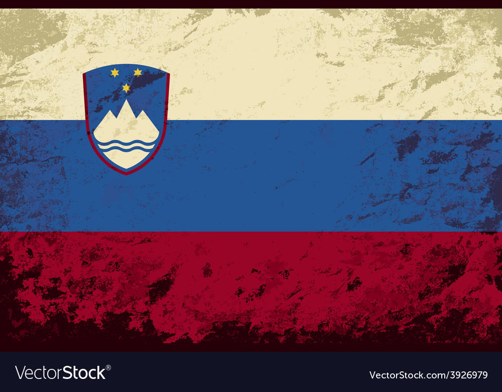 Slovenian flag grunge background vector | Price: 1 Credit (USD $1)
