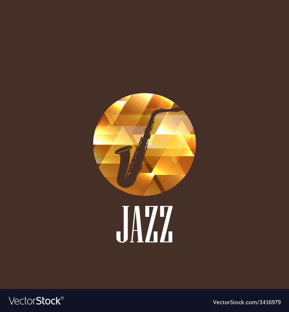 With saxophone icon vector | Price: 1 Credit (USD $1)