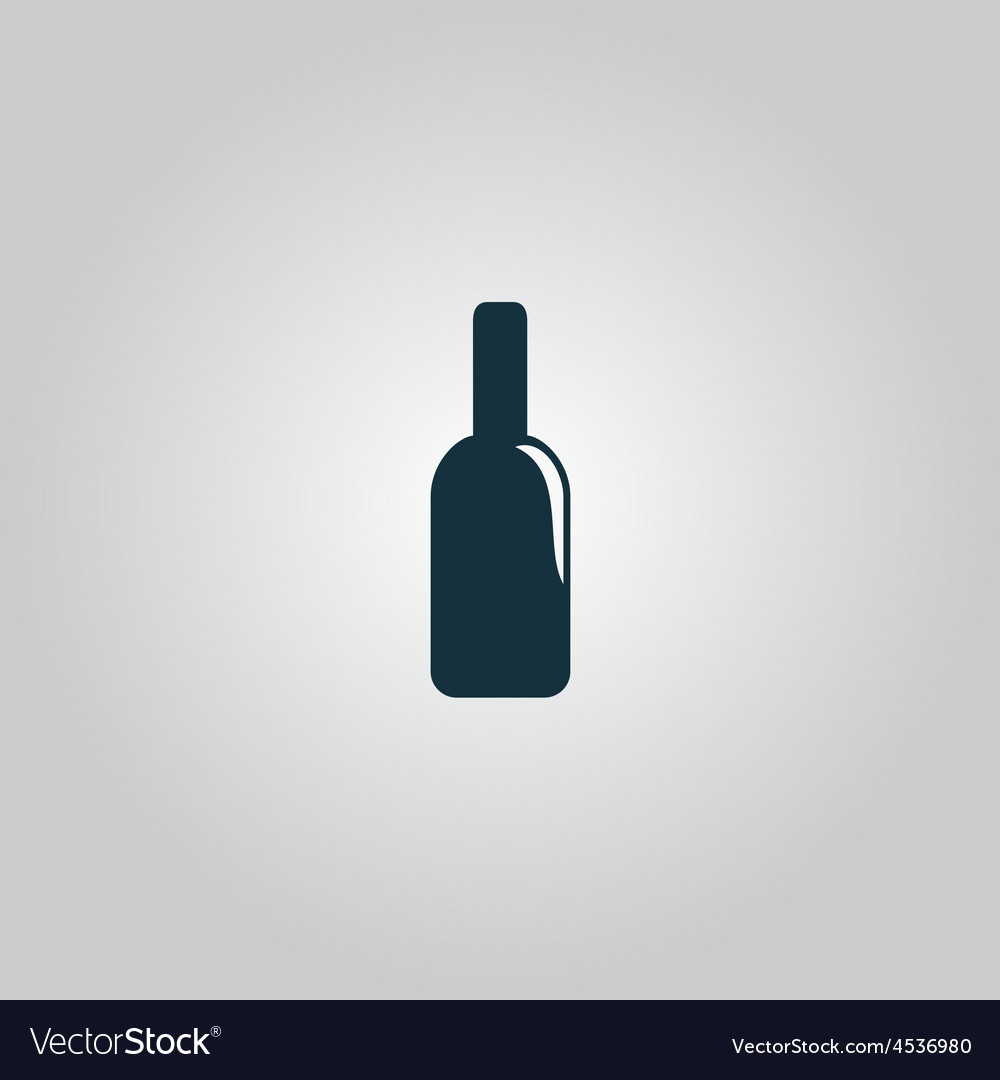 Bottle of alcohol icon vector | Price: 1 Credit (USD $1)