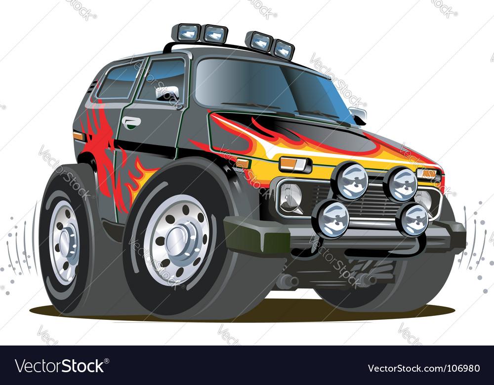 Cartoon jeep vector | Price: 3 Credit (USD $3)