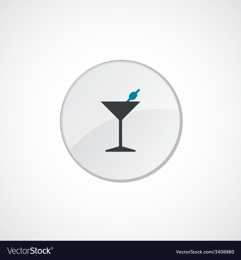 Cocktail icon 2 colored vector | Price: 1 Credit (USD $1)