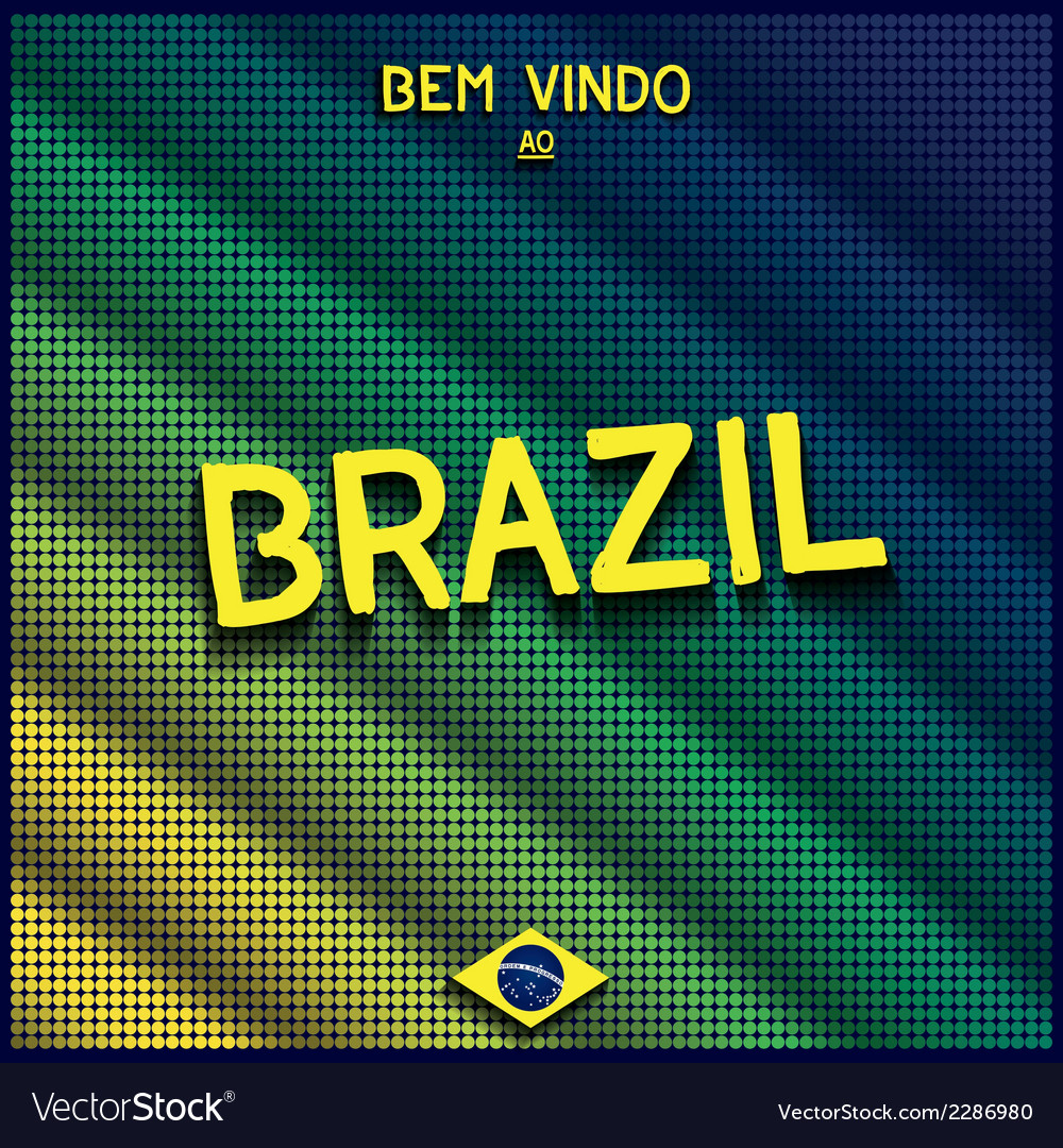 Colorful digital background brazil vector | Price: 1 Credit (USD $1)