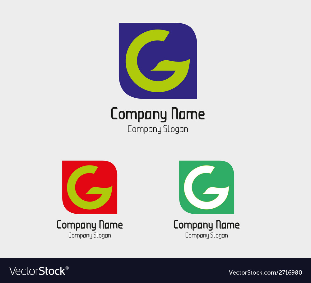 G logo template - symbol letter g vector | Price: 1 Credit (USD $1)