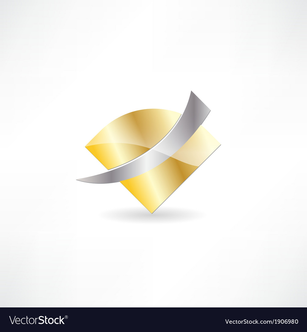 Gold metal abstraction icon vector | Price: 1 Credit (USD $1)
