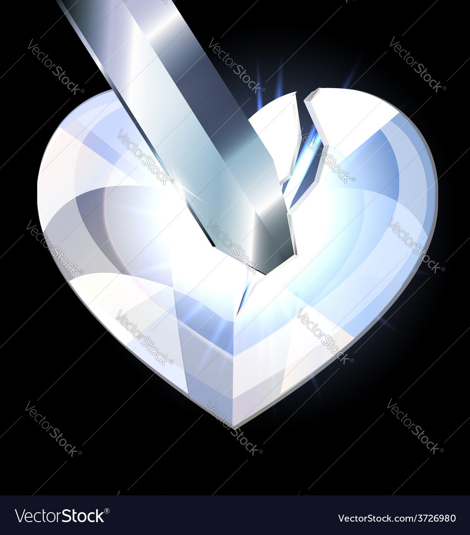 Ice heart-crystal and blade vector | Price: 1 Credit (USD $1)