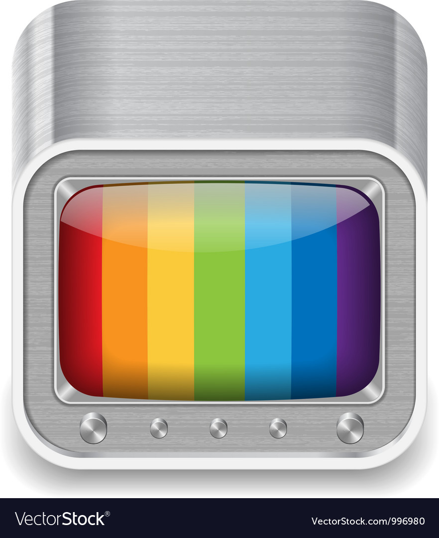 Icon for television set vector   Price: 3 Credit (USD $3)