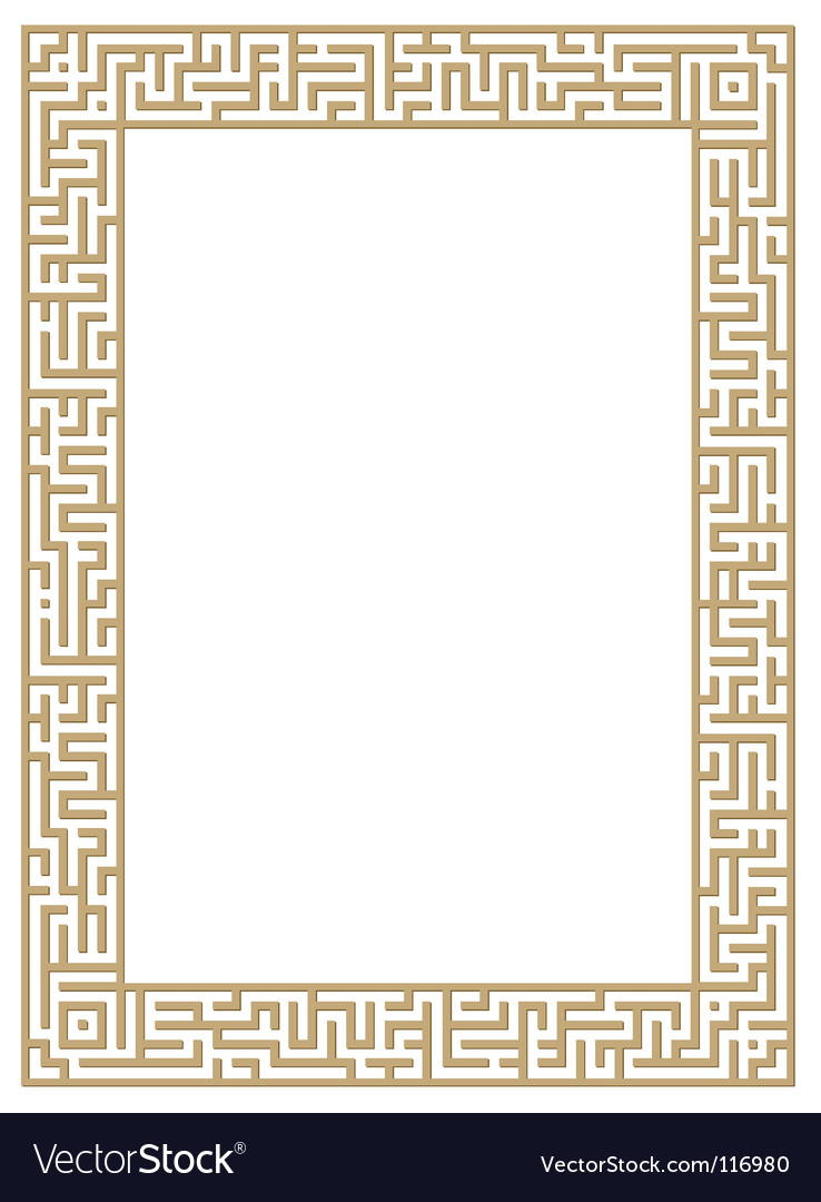 Maze border vector | Price: 1 Credit (USD $1)