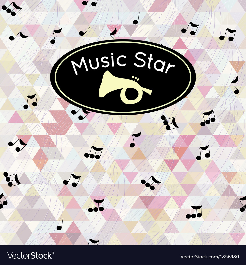 Musical notes and triangle vector | Price: 1 Credit (USD $1)