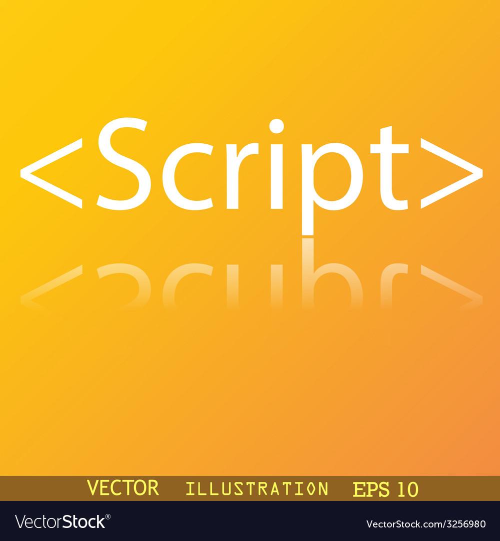 Script icon symbol flat modern web design with vector | Price: 1 Credit (USD $1)