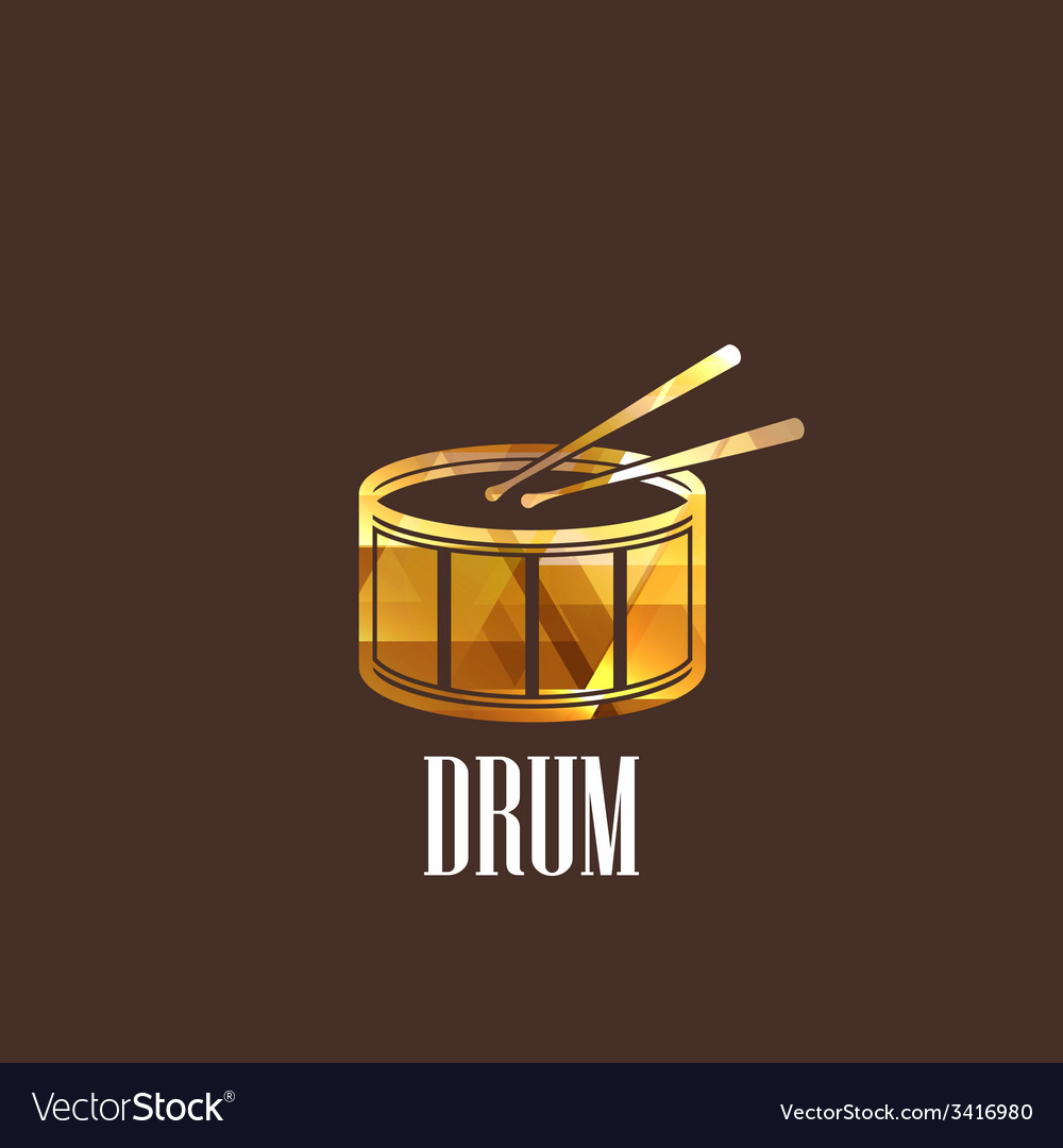 With drum icon vector | Price: 1 Credit (USD $1)