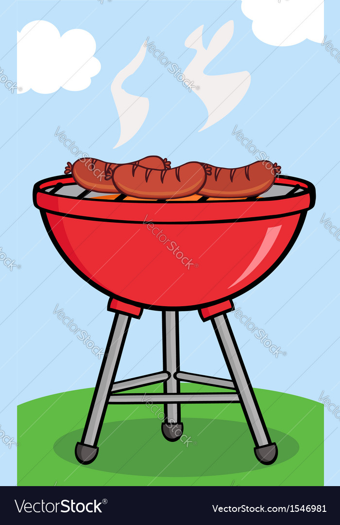 Bbq sausage outside vector | Price: 1 Credit (USD $1)