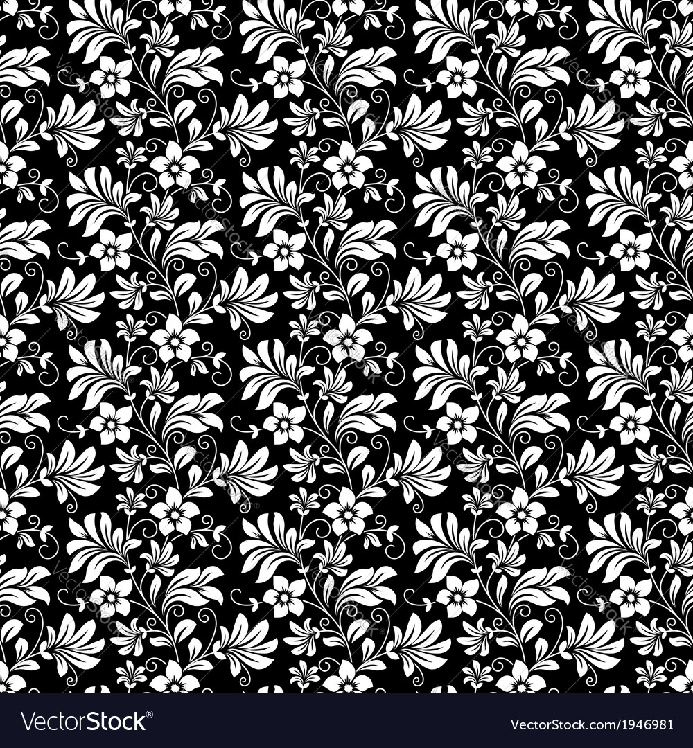 Beautiful intricate retro seamless floral pattern vector | Price: 1 Credit (USD $1)