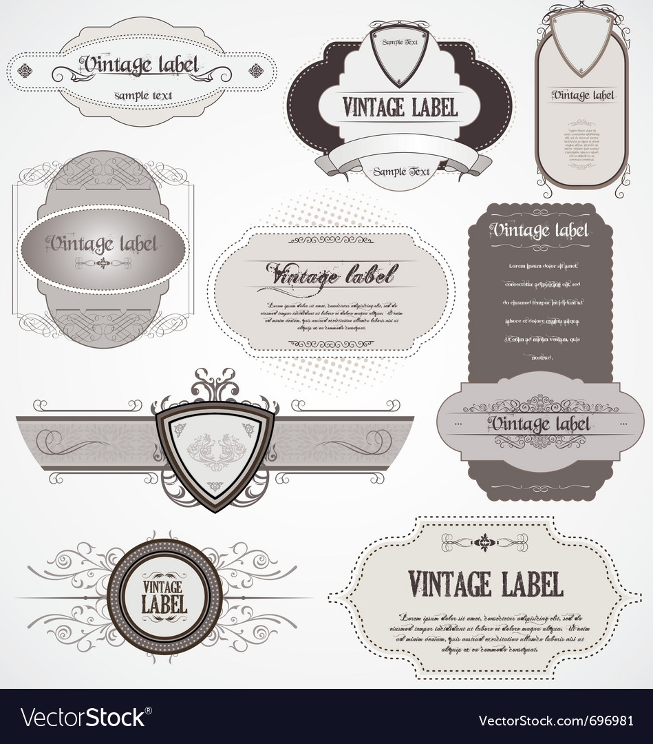 Calligraphic labels vector | Price: 1 Credit (USD $1)