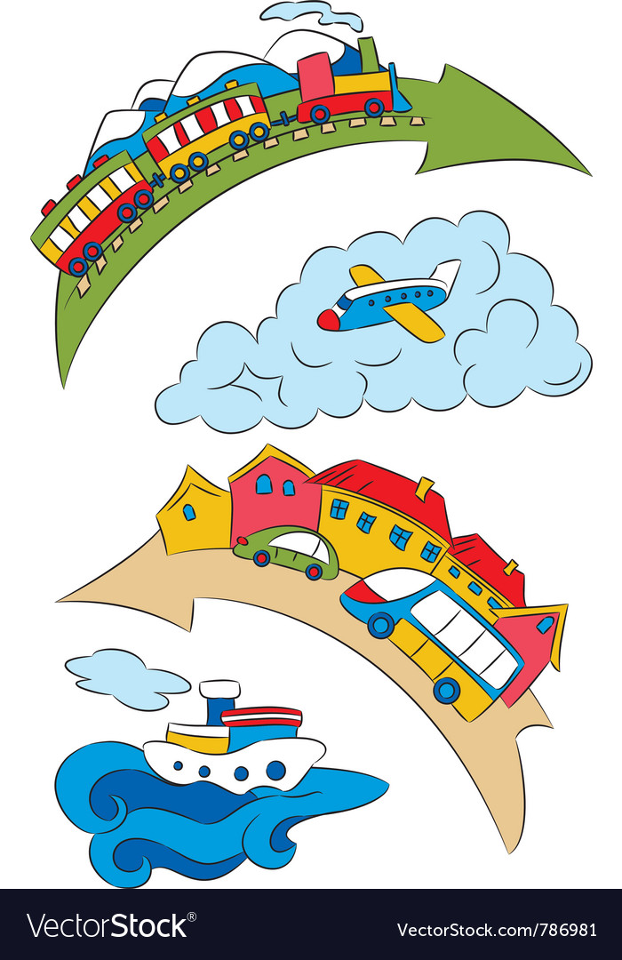 Cartoon transport specifying a vector | Price: 1 Credit (USD $1)